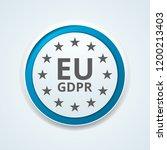 eu gdpr confirm button... | Shutterstock .eps vector #1200213403
