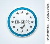 eu gdpr confirm button... | Shutterstock .eps vector #1200213406