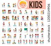 kids children set vector. baby... | Shutterstock .eps vector #1200214906
