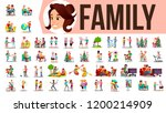 family set vector. family... | Shutterstock .eps vector #1200214909