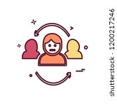group avatar icon design vector | Shutterstock .eps vector #1200217246
