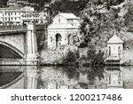 view of the riverside of... | Shutterstock . vector #1200217486