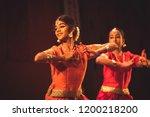a young bharatnatyam artist... | Shutterstock . vector #1200218200