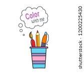 cartoon doodle handdrawn vector ... | Shutterstock .eps vector #1200225430