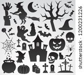 halloween vector icon set....   Shutterstock .eps vector #1200231226