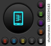 mobile compress data dark push...   Shutterstock .eps vector #1200234163