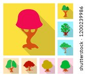 vector illustration of tree and ...   Shutterstock .eps vector #1200239986