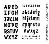 hand drawn typeface set... | Shutterstock .eps vector #1200247396