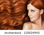 healthy long hair | Shutterstock . vector #120024943