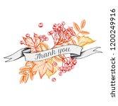 ribbon design of autumn leaves... | Shutterstock .eps vector #1200249916
