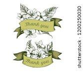ribbon design of allamandas...   Shutterstock .eps vector #1200250030