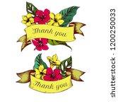 ribbon design of allamandas...   Shutterstock .eps vector #1200250033