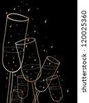 Doodle Champagne Glasses...