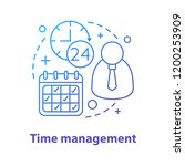 time management concept icon.... | Shutterstock .eps vector #1200253909