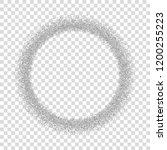silver circle glitter frame....   Shutterstock .eps vector #1200255223
