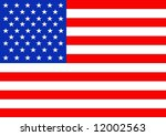 illustrated flag of the united... | Shutterstock . vector #12002563