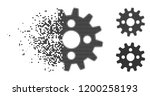 cogwheel icon in disappearing ... | Shutterstock .eps vector #1200258193