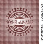 non flammable red emblem or... | Shutterstock .eps vector #1200262726