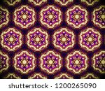 a hand drawing pattern made of... | Shutterstock . vector #1200265090