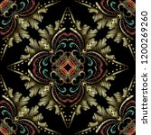 colorful embroidery baroque... | Shutterstock .eps vector #1200269260