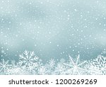 winter holiday background with... | Shutterstock .eps vector #1200269269