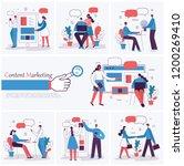 set of vector concept... | Shutterstock .eps vector #1200269410