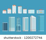 modern city buildings vector... | Shutterstock .eps vector #1200272746