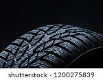 set of new winter tires on... | Shutterstock . vector #1200275839