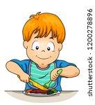 Illustration Of A Kid Boy Usin...