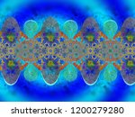 a hand drawing pattern made of... | Shutterstock . vector #1200279280