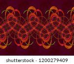 a hand drawing pattern made of... | Shutterstock . vector #1200279409