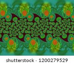 a hand drawing pattern made of... | Shutterstock . vector #1200279529