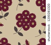 seamless pattern with burgundy... | Shutterstock .eps vector #1200281320