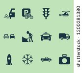 shipment icons set with taxi ...   Shutterstock . vector #1200281380