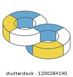 abstract curved vector shape... | Shutterstock .eps vector #1200284140