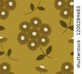 seamless pattern with brown... | Shutterstock .eps vector #1200284683