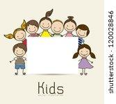 illustration of kids icons ... | Shutterstock .eps vector #120028846