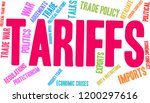tariffs word cloud on a white... | Shutterstock .eps vector #1200297616