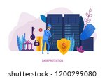 data protection. internet... | Shutterstock .eps vector #1200299080