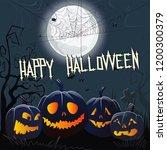 happy halloween gothic... | Shutterstock .eps vector #1200300379