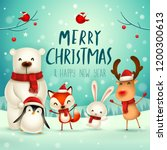 merry christmas and happy new... | Shutterstock .eps vector #1200300613