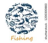 fishing sport  of sea and ocean ... | Shutterstock .eps vector #1200300883