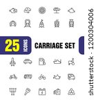carriage icons. set of line... | Shutterstock .eps vector #1200304006