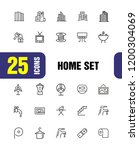 home icons. set of  line icons. ... | Shutterstock .eps vector #1200304069