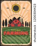 farming and agriculture retro... | Shutterstock .eps vector #1200304423
