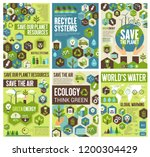 save planet  protect earth air  ... | Shutterstock .eps vector #1200304429