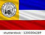flag of fort smith is the... | Shutterstock . vector #1200306289