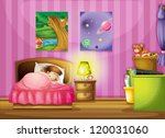 illustration of a girl and a... | Shutterstock .eps vector #120031060