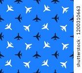 seamless aircraft pattern....   Shutterstock . vector #1200310663