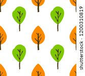 seamless tree pattern. colorful ...   Shutterstock . vector #1200310819